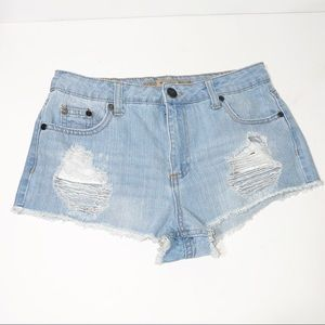Highway Jeans Distressed Cut off Denim Shorts